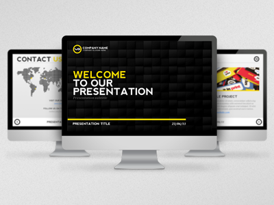 Black & Yellow Presentation Template presentation template powerpoint clean contemporary
