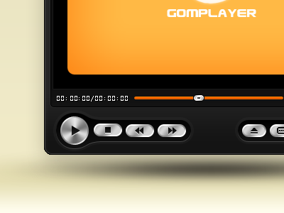 Juicy Black GOM Player Skin gom media player skin user interface gui button buttons play