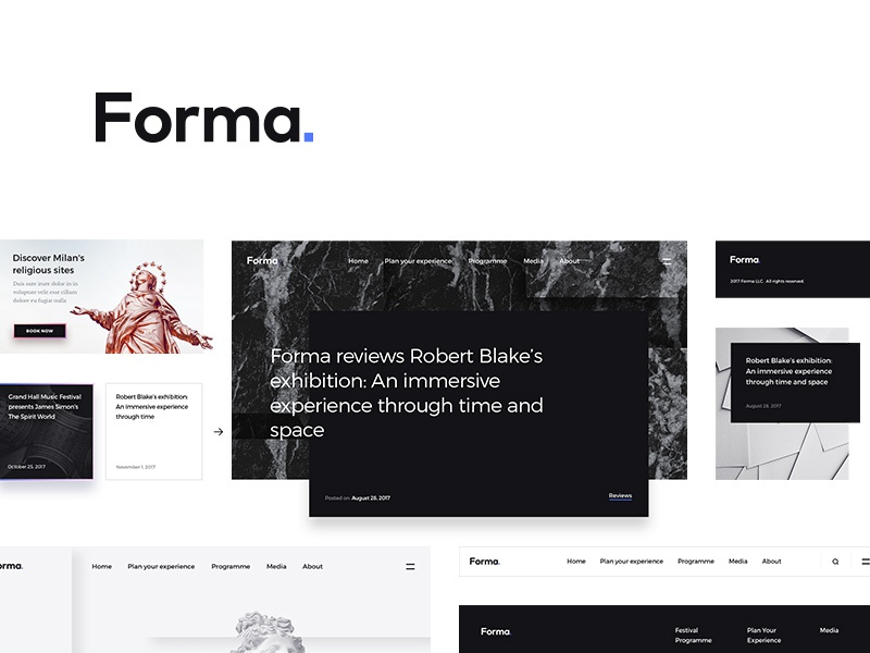 Forma ui kit ui kit elements web interface psd art minimalist minimalism modern