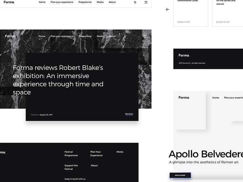 Forma Navigation modern minimalism minimalist art psd interface web elements ui kit kit ui