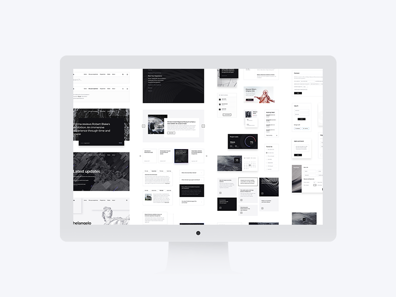 Forma All Elements Preview modern minimalism minimalist art psd interface web elements ui kit kit ui