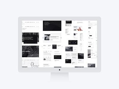 Forma All Elements Preview modern minimalism minimalist art psd interface web elements ui kit kit ui