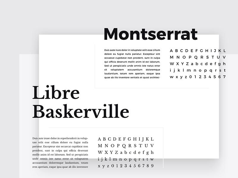 Forma Typography fonts font type typography modern minimalism minimalist art web elements kit ui