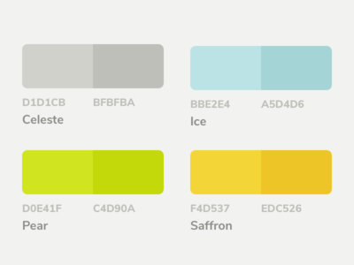 Mojito UI Kit Color Palette