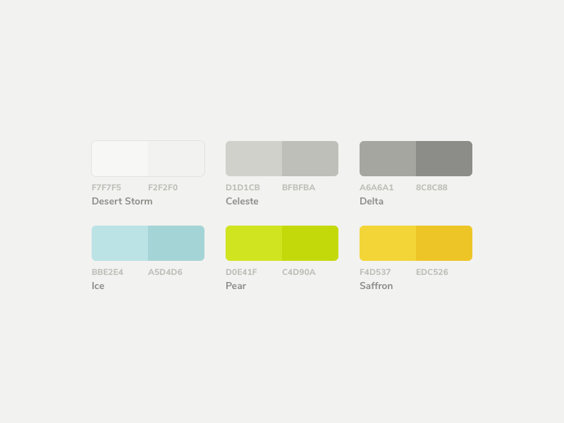 Mojito ui kit color palette v02