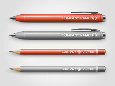 Pen/Pencil Mock-up up mock mock-up mockup pen pencil