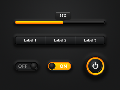 Soft Interface Black ui gui black soft interface