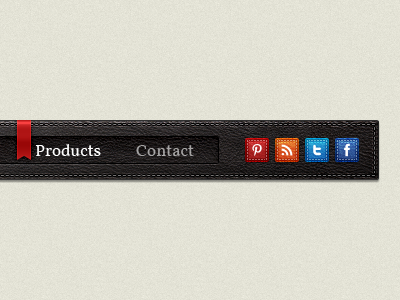 Leather navigation menu 2