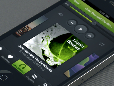 Mobile music player tutorial photo