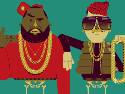 Run the Jewels Merchandise rtj runthejewels vector digital illustration hip hop print killer mike el-p