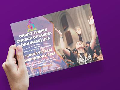 Church Poster Design Template Sketsa
