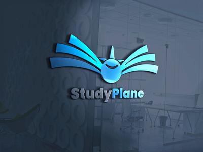 Study plane LOGO mockup