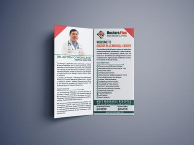 Bi Fold Medical Brochure mockup