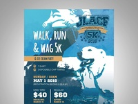 Dog walk and ice cream party flyer