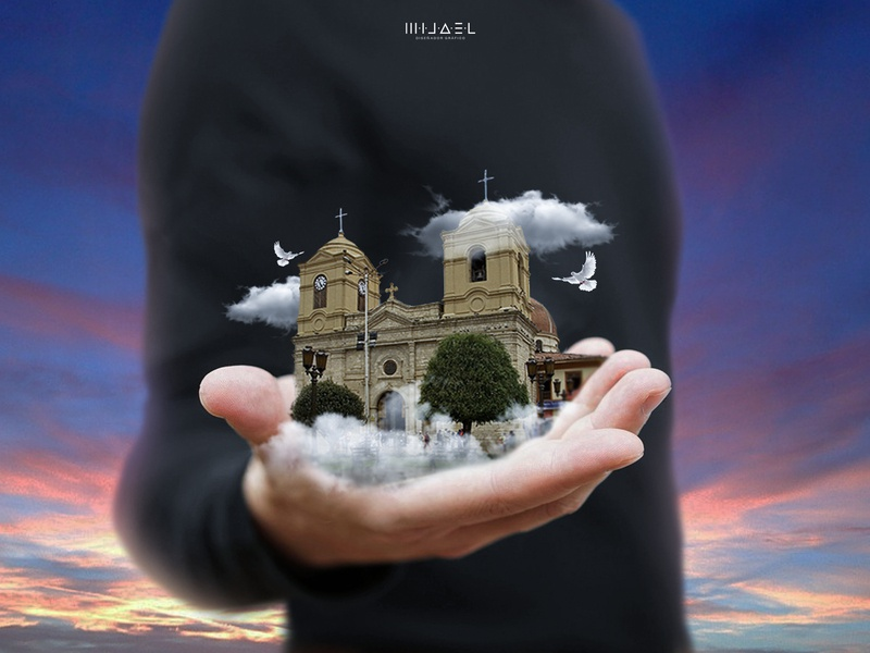 Huancayo_city church huancayo acreativevisual psd photoshop manipulation design