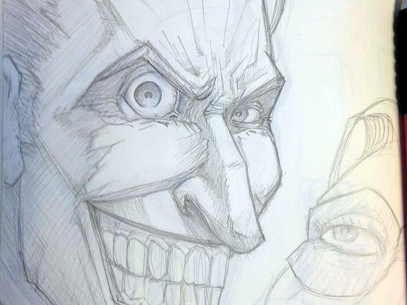 Joker Sketch By Tom Heggie On Dribbble