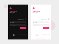 Login screen app concept with touch ID