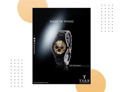 Tsar Watches Book Cover cover design poster book cover wood watches branding portfolio photoshop