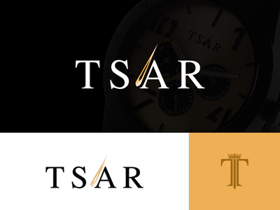 Tsar Watches logo ideas logo concept portfolio time inspiration watches logo wooden time pieces watches wooden watches tsar concept illustration logo