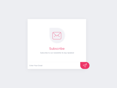 Subscribe Newsletter adobe xd inspection design concept ui flat subscribe popup subscribe form