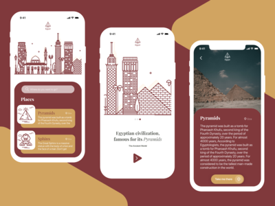 Egyptian Civilization - App Adobe XD