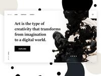 Art Web UI Design