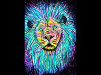 Lion Amazed
