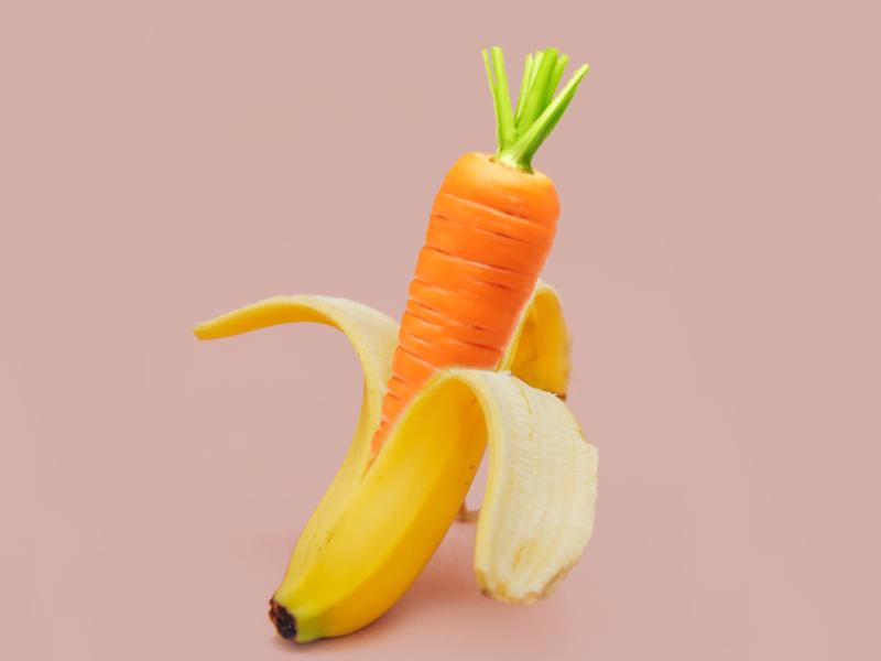 Carrot or Banana 2d art design photoshop banana carrot