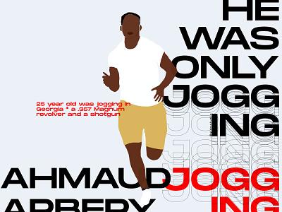 #irunwithahmaud typography vector illustration black lives matter