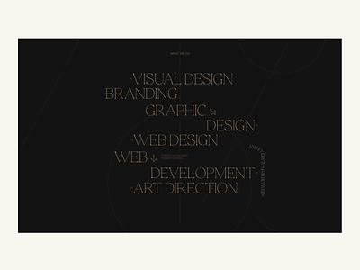 GLDN Studio webflow web ux ui typography layout exploration minimal web development web design graphic design visual design art direction design branding