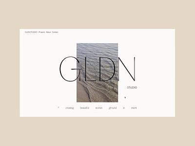 GLDN Studio -  Homepage minimalism minimalist custom css css art direction animation webflow typography web development web ux ui branding