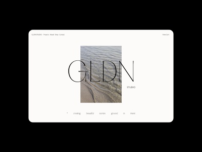 GLDN Studio E-commerce Design Website web design customcss css animation ux ui branding art direction webflow typography web development web