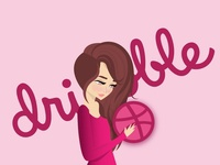 in celebration of being invited to dribbble