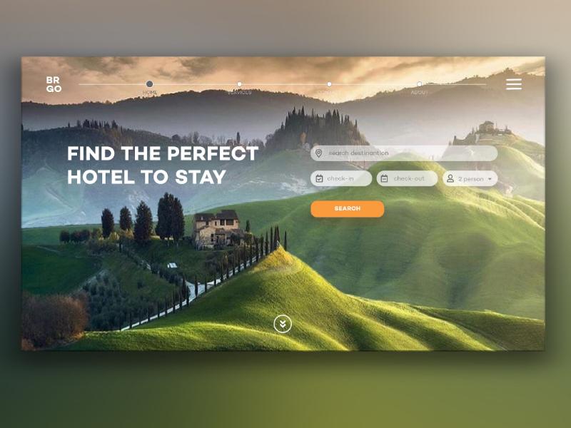 Hotel booking web design. logo design ui webdesign dribbble