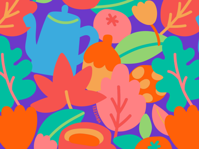 YAYITZEL Fall Icons latina doodles icons fall rainbow yayitzel kawaii pattern wallpaper icon coloful illustration design vector