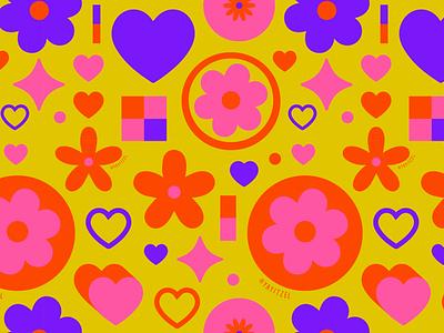 YAYITZEL Shapes Pattern minimal shapes yayitzel kawaii rainbow pattern icon wallpaper coloful illustration design vector