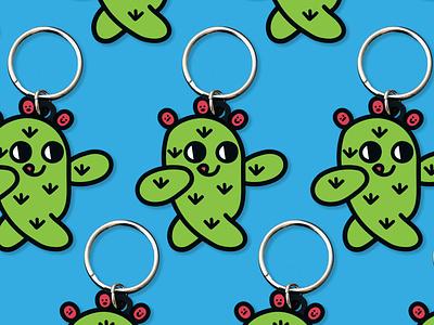 YAYITZEL Cactus Keychain keychain merch cactus latina yayitzel kawaii icon coloful illustration design vector