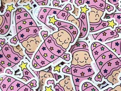 YAYITZEL Glo Worm Sticker kawaii yayitzel coloful illustration design vector