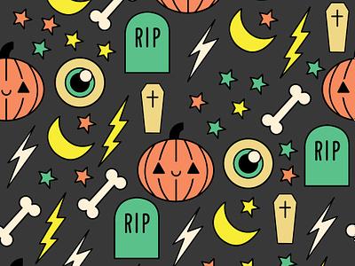 Halloween Kawaii Icons icon spooky wallpaper pattern halloween kawaii design vector illustration
