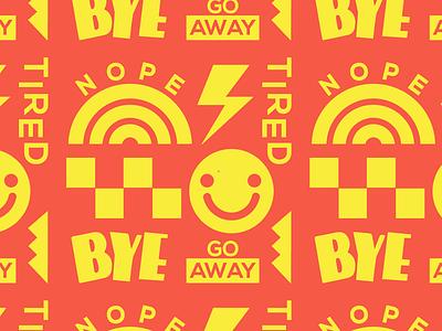 Nope. logo branding vector wallpaper typography pattern illustration design