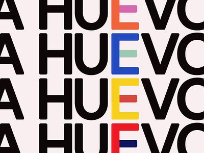 A Huevo Wallpaper retro rainbow typography icon coloful wallpaper pattern illustration vector