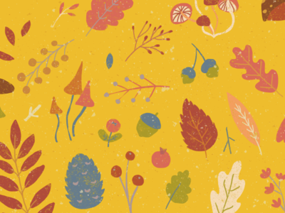 Fall Wallpaper distress shapes retro rainbow design coloful icon pattern wallpaper illustration vector