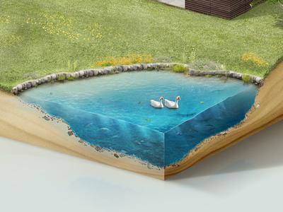 Lake illust interaction isometric lake