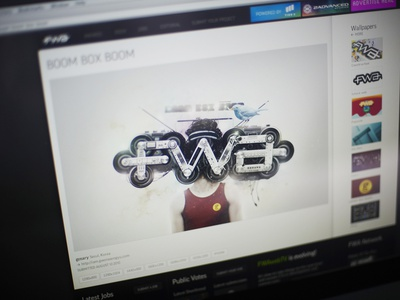 BOOB BOX BOOM v.2 illusst graphic wallpaper mission fwa logo concept artwork