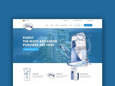 Unilever Pureit web design