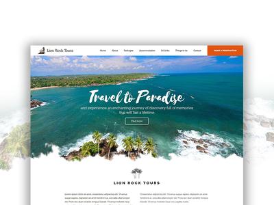 Tour agency web design