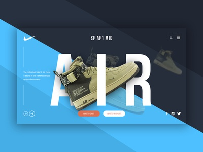 Nike webpage design concept