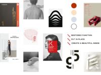Moodboard for osteopathy identity