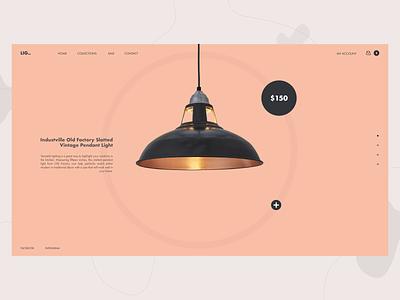 Lighting Web Ui web ui web concept concept grey peach pantone web icon typography branding vector ui logo pastel minimalism minimal illustration illustraor flat design