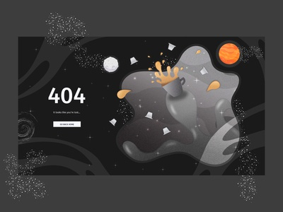404 Error page design for coffee capsule manufacturing company